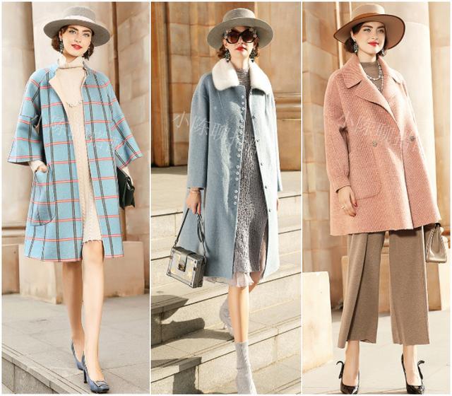 呢子外套+连衣裙