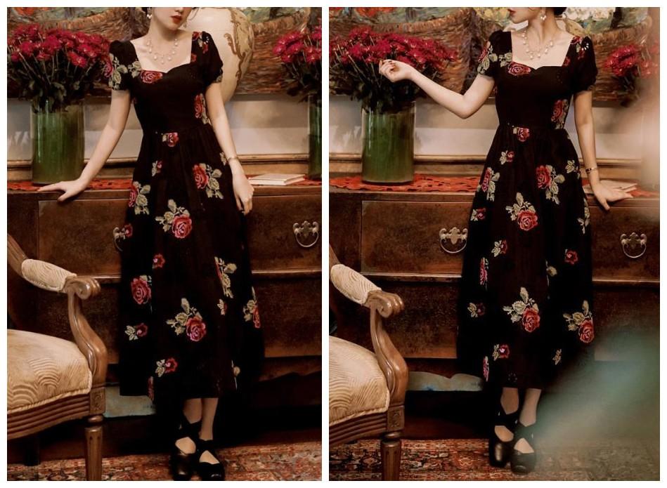 小众法式连衣裙