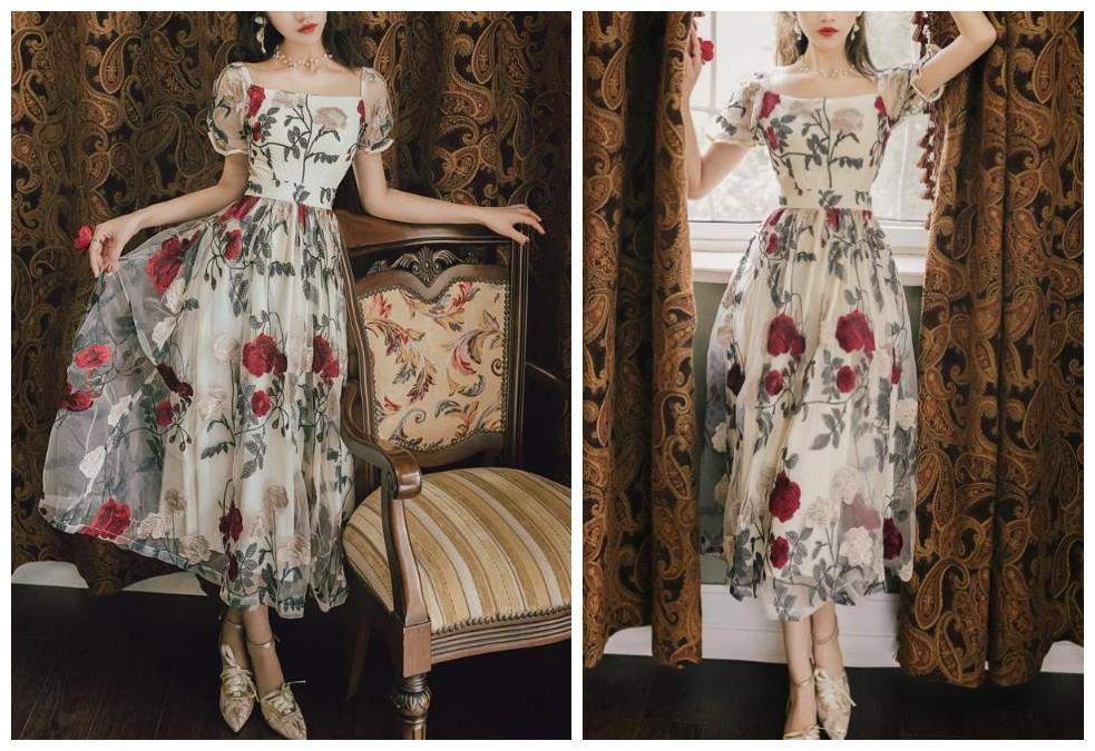 宫廷复古裙