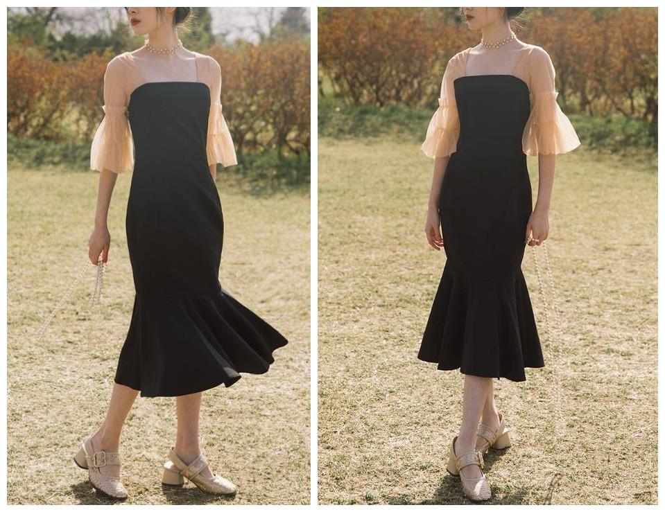 赫本风小黑裙