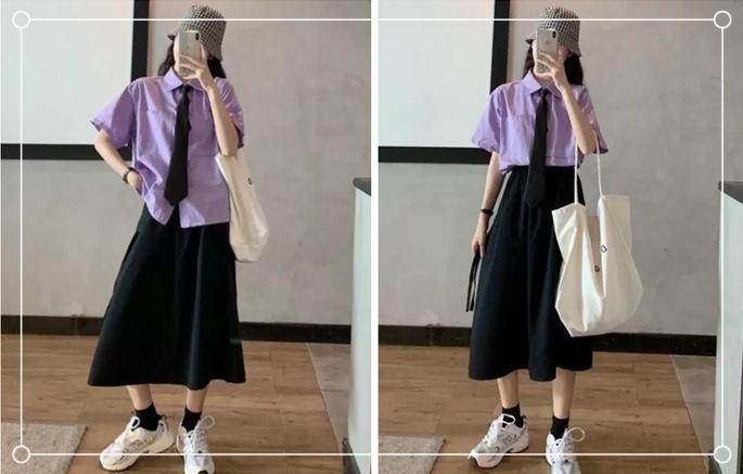 夏季时尚日系风套装
