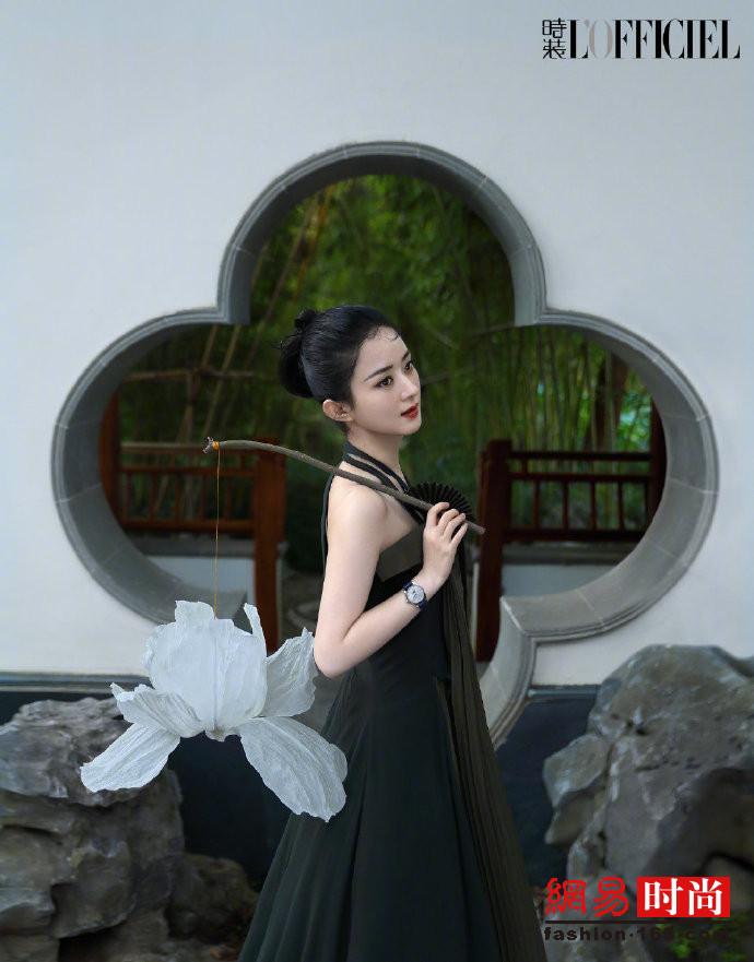 赵丽颖写意国风大片-幽兰花香